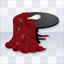 ダークネスゴシックテーブル 赤