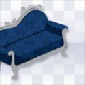 強化:ダークネスゴシックソファ 青