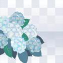 夢幻紫陽花のフレーム