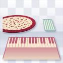 音符と鍵盤のマット(初音ミク)