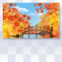 秋色づく庭園の壁紙 イエロー