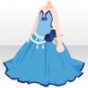 ローブデコルテドレス ブルー