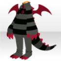 ドラゴンぬいぐるみスーツA ブラック