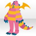ドラゴンぬいぐるみスーツA ピンク