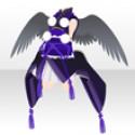鴉天狗の装束 紫