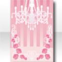 ロイヤルシャンデリアの背景 ピンク