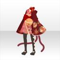 おてんば猫娘和服A 赤