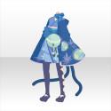 おてんば猫娘和服A 青