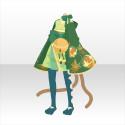 おてんば猫娘和服B 緑