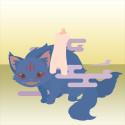 にやにや猫又 青