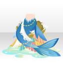 桜の水精のしっぽ 青