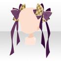 姫薔薇ツインリボン 紫