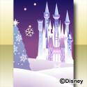 ホワイトスノーキャッスルの背景 紫(ディズニー)
