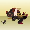 にやにや猫又 黒(PS限定)