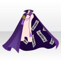 護符付の外套A 紫