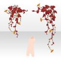 森の怪しげな蔦 赤