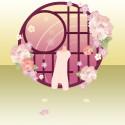 冬牡丹の咲く窓 桃