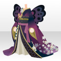 桜の蝶々和華着物 黒(イベント限定)