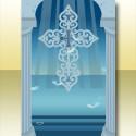 聖なる祝福の背景B ブルー