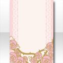 ローズレースの背景B ピンク