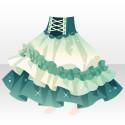 ミッドナイトドレススカートB グリーン