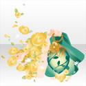 花舞うファンタジックランタン グリーン