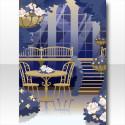 フィオーレフェアリーの温室の背景 ブルー