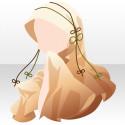 雅姫の華舞頭巾 黄