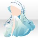 雅姫の華舞頭巾 青