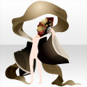 恋情詠う白拍子の羽衣A 黒色