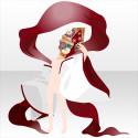 恋情詠う白拍子の羽衣A 赤紅