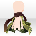 花鳥風月襟巻と羽織 緑