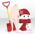 ぬくぬくもこもこ雪だるま レッド