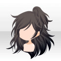 リバーサルガールヘア ブラック