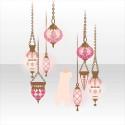 ルーチェマゴの吊るしランプ ピンク