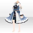 ウォーターカラーパレットドレス ブルー