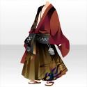 流しの誠二郎の着物A 赤