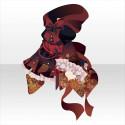 妖蝶のフードワンピA 紅