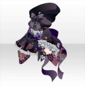 妖蝶のフードワンピA 紫
