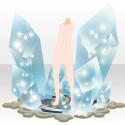 光を閉じ込めた水晶 ブルー