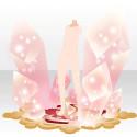 光を閉じ込めた水晶 ピンク