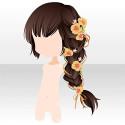 ロマンティックグロウの三つ編み ブラック