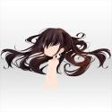 落ちる王女の髪 ブラック