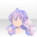 花咲く二つ結び 紫