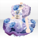 花咲くお茶の精ワンピA 紫