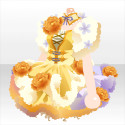 花咲くお茶の精ワンピA 黄