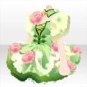 花咲くお茶の精ワンピB 緑