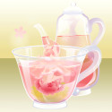 花咲くお茶の精 桃