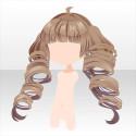 ロックン・ポップ巻き髪ツインヘア ブラウン