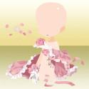 ローズバタフライと乙女の吐息 ピンク